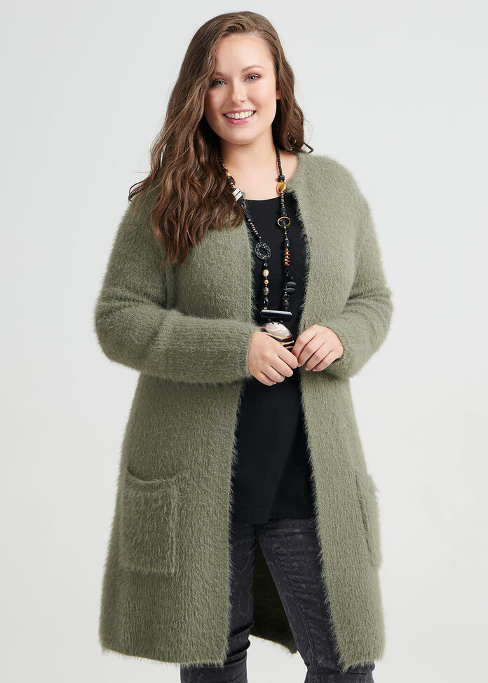 Warm And Fuzz Cardigan, , hi-res