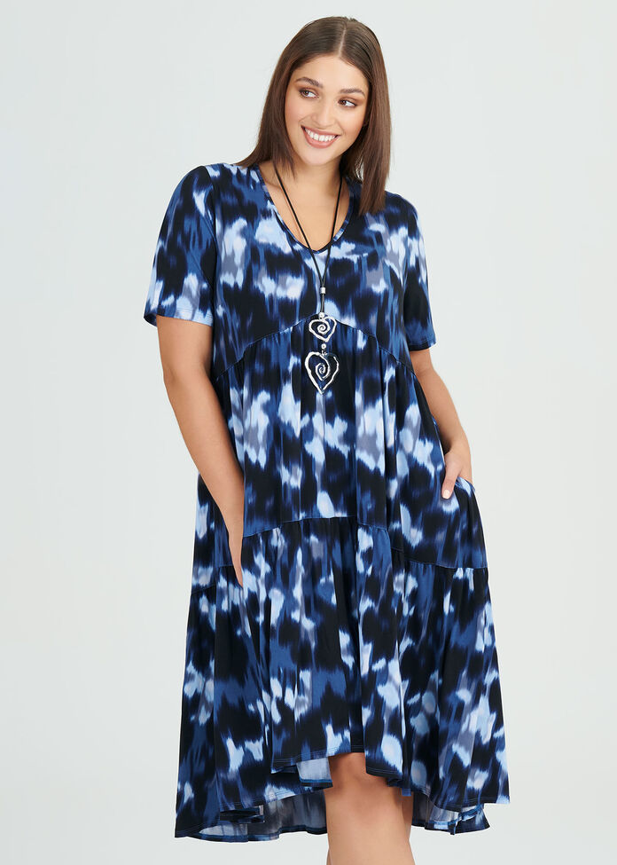 Ikat Luna Dress, , hi-res