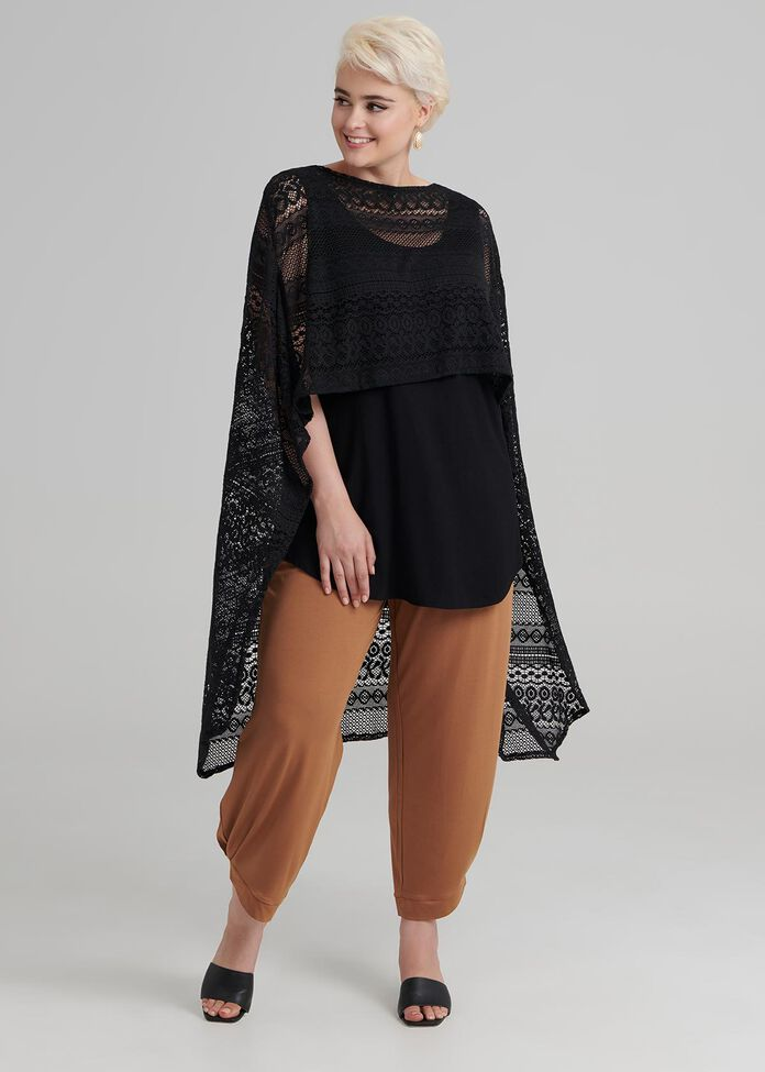 Lace By Your Side Poncho, , hi-res