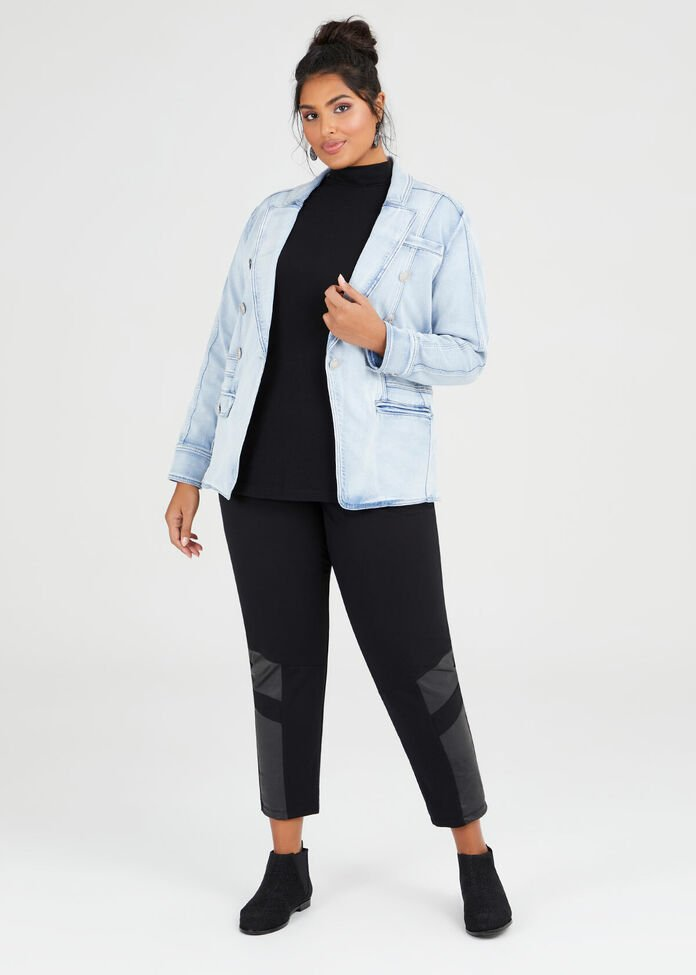 Elle Denim Blazer, , hi-res