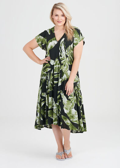 Natural Lush Jungle Dress