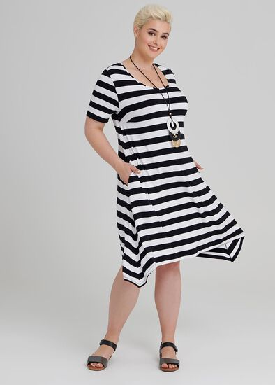 Getaway Stripe Dress