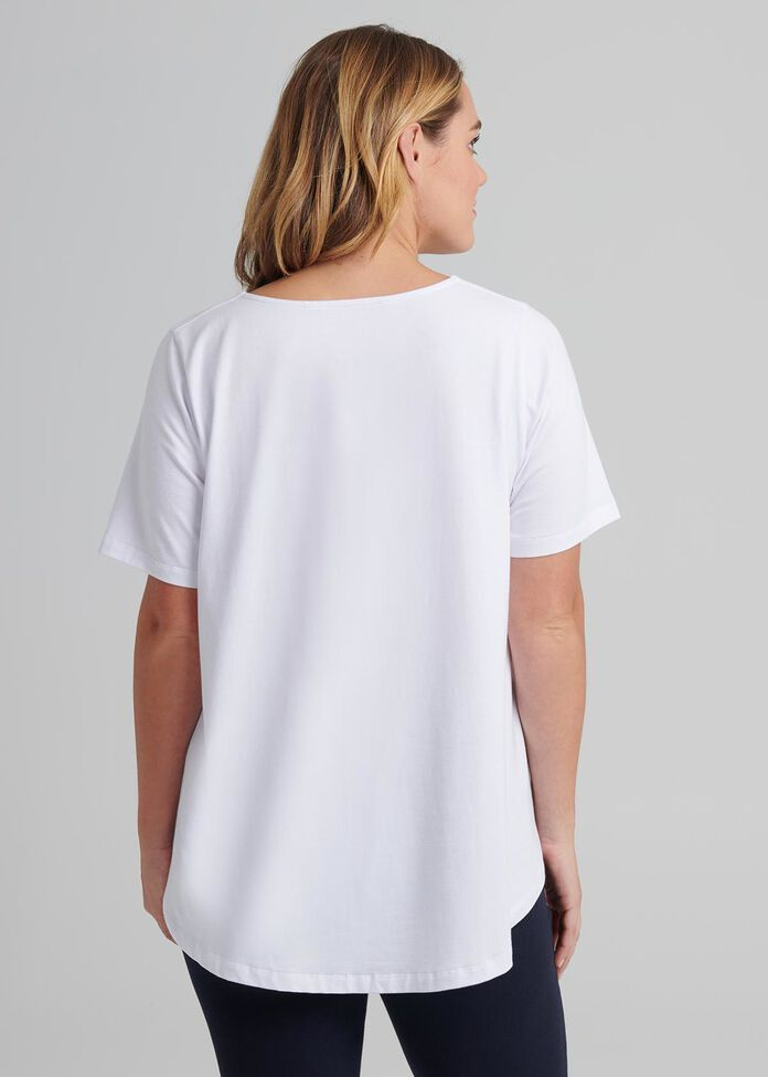 V Neck Swing Tee, , hi-res