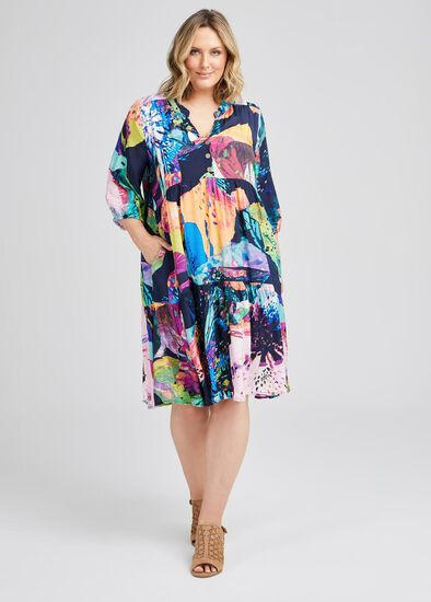 Clair Natural Tier Dress