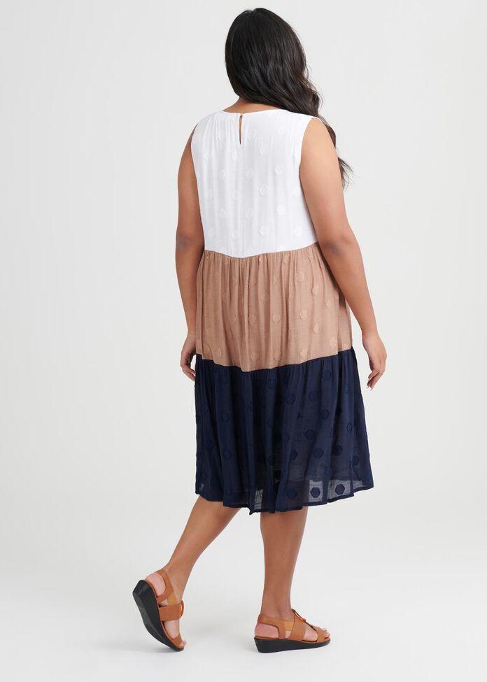 Dobby Spliced Dress, , hi-res