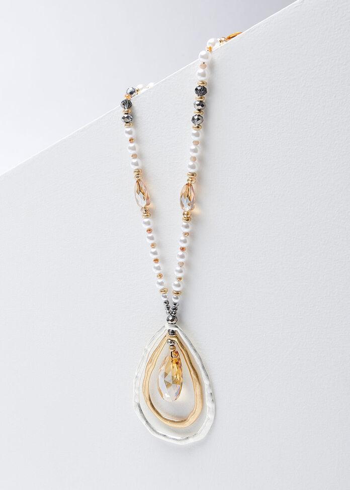 Teardrops Pearl Necklace, , hi-res