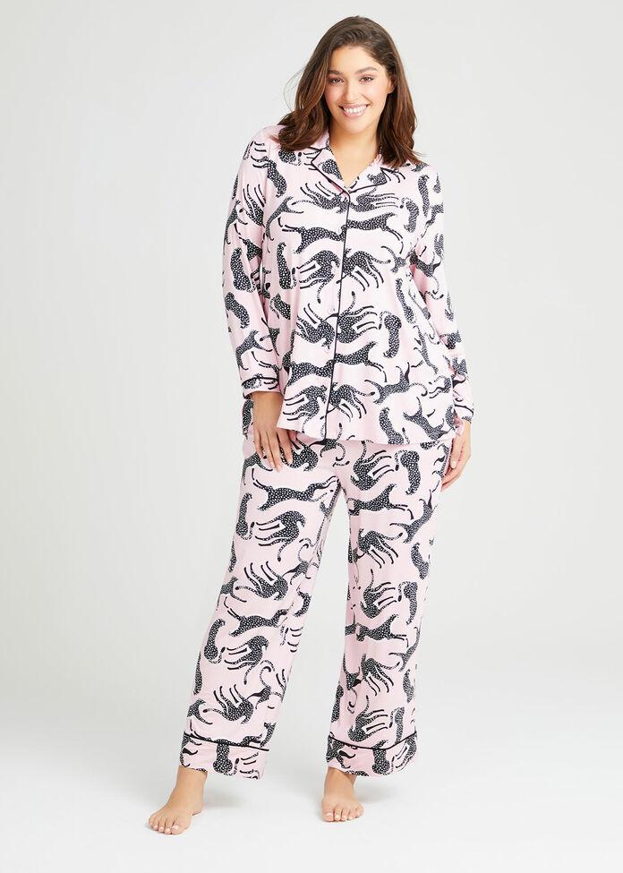 Bamboo Leopard Pyjama Top, , hi-res