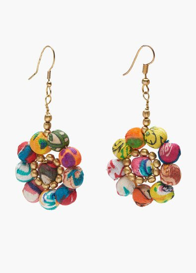 Kantha Flower Earring