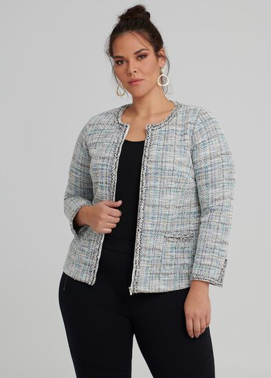 Metallic Tweed Cardi
