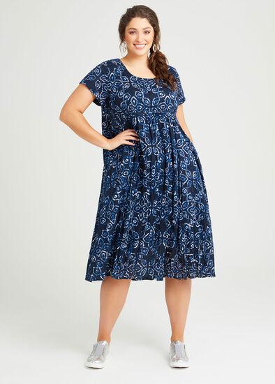 Cotton Shibori Print Dress