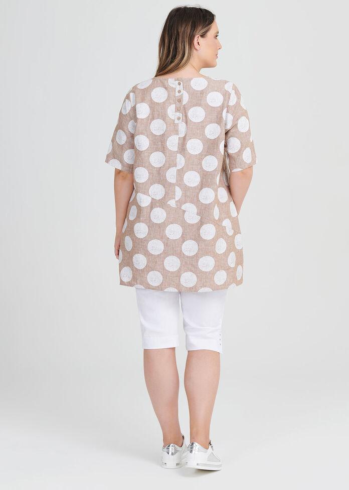 Linen Mahli Spot Tunic, , hi-res