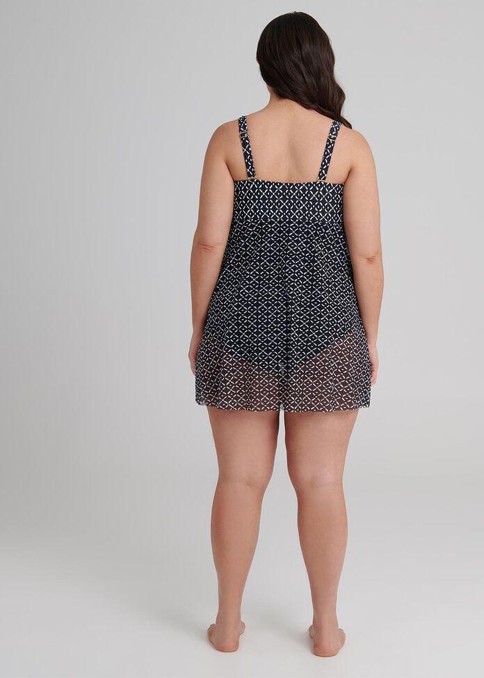 Geo Diamond Swimsuit, , hi-res