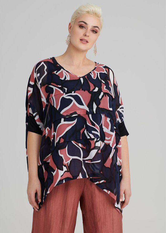 Medina Print Top, , hi-res