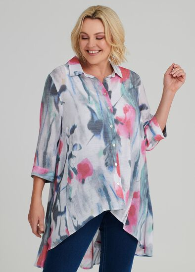 Paris Chic Flowy Shirt