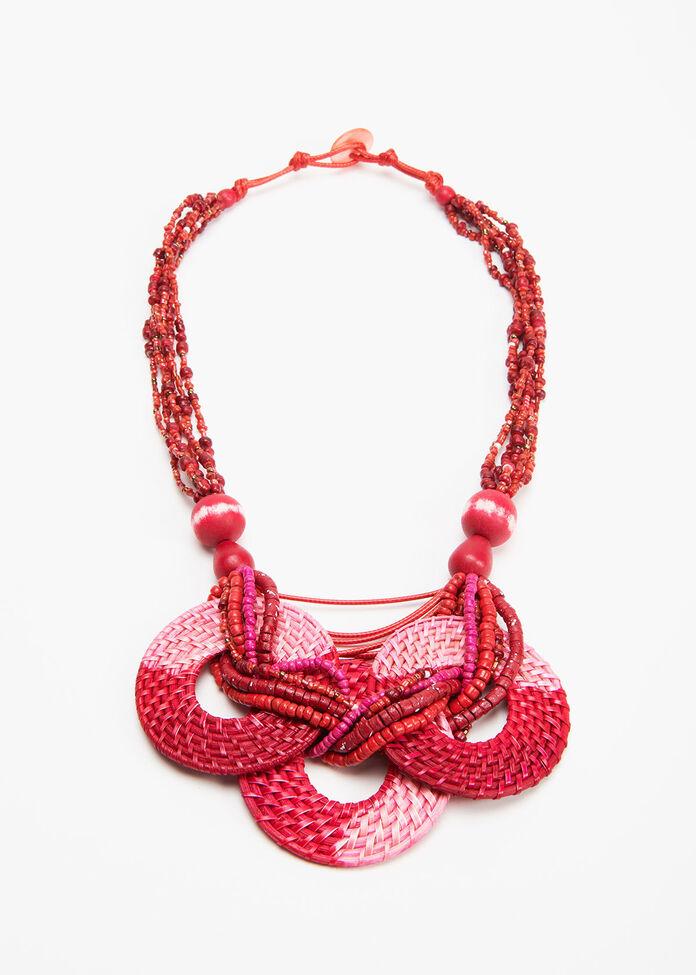 Raffia Rings Necklace, , hi-res