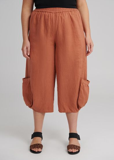 The Easy Linen Crop Pant