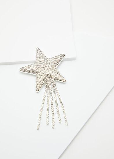 Crystal Shooting Star Brooch