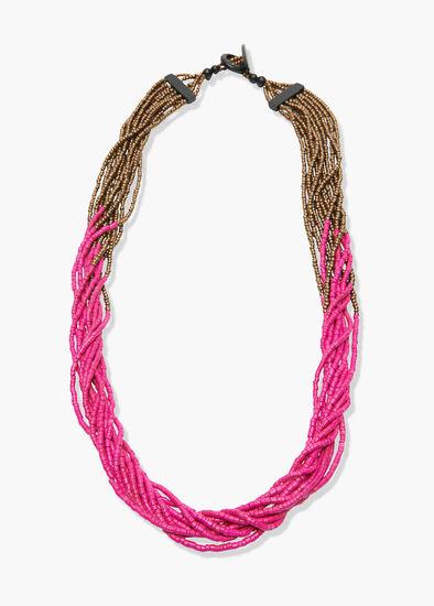 Magenta Glitz Necklace