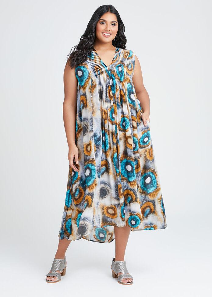 Natural Tie Dye Maxi Dress, , hi-res