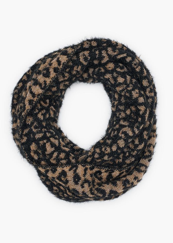 Animal Fuzzy Knit Snood, , hi-res