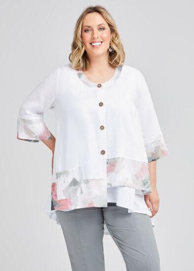 Misty Vibe Linen Pocket Jacket