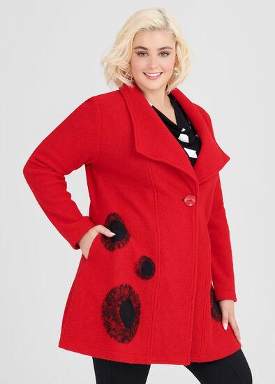 Frankie Boiled Wool Coat