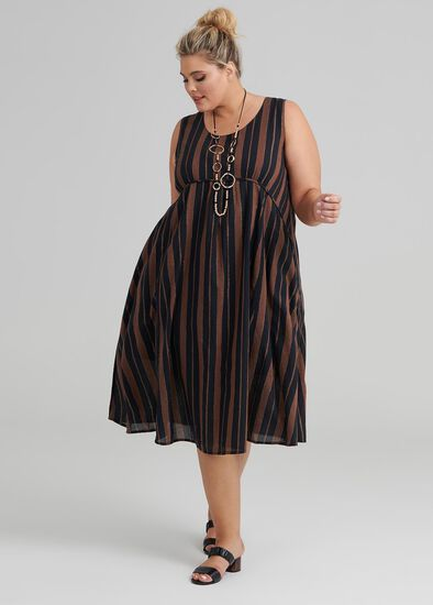 Ola Lurex Stripe Dress