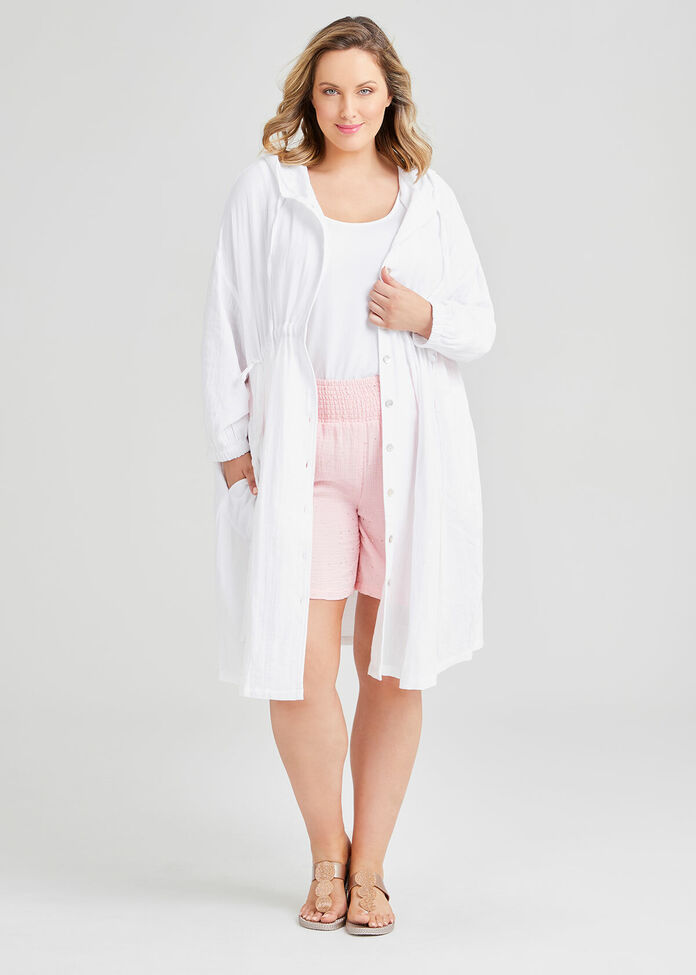 Cotton Hoodie Cover Up, , hi-res