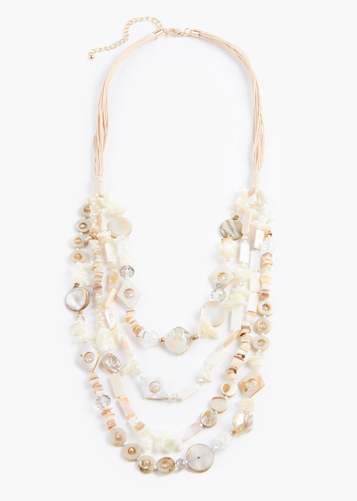 Layered Shell Necklace, , hi-res