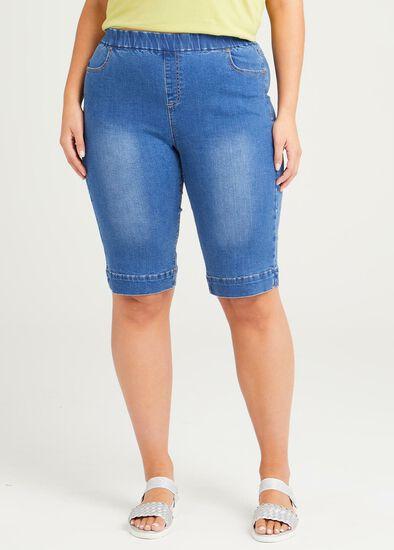 Organic Denim Pull On Short