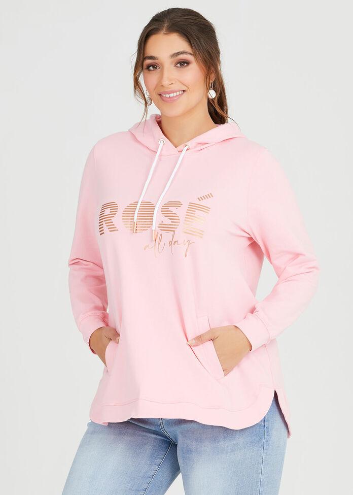 Organic Rose Hoodie, , hi-res