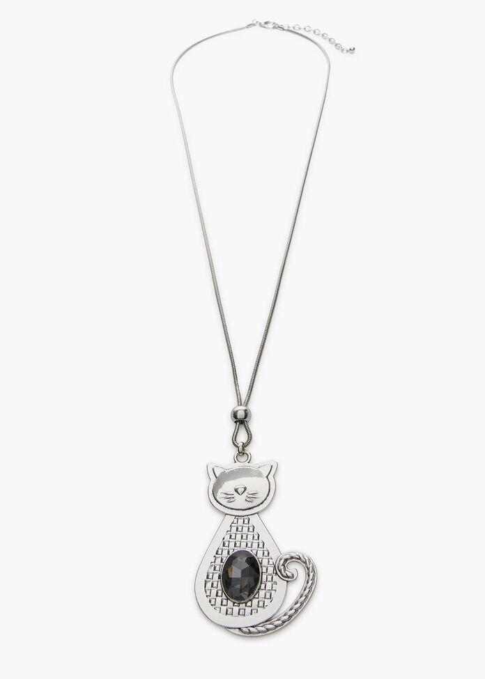 Feelin Feline Necklace, , hi-res
