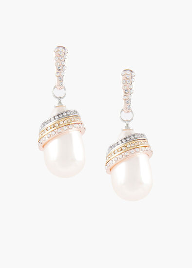 Ring Of Pearl Earrings
