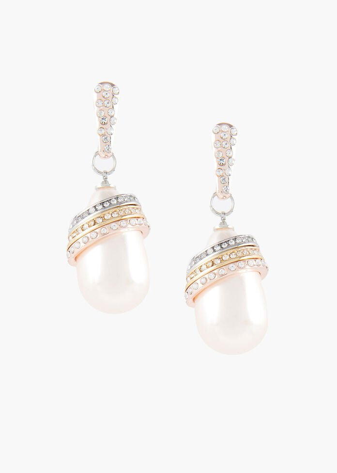 Ring Of Pearl Earrings, , hi-res