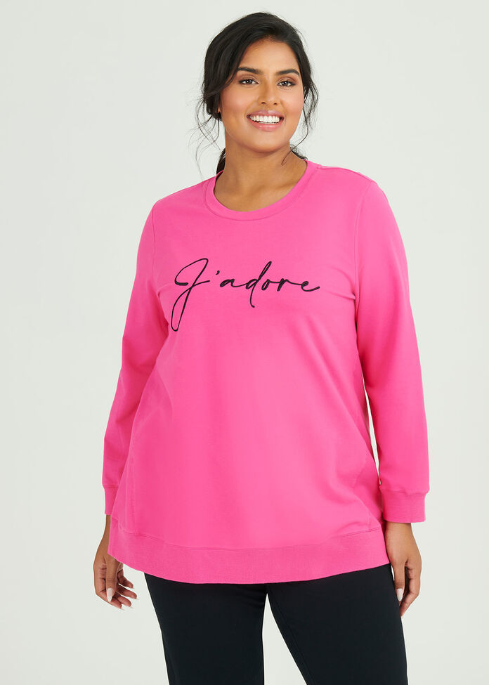 Organic J'adore Sweat Top, , hi-res