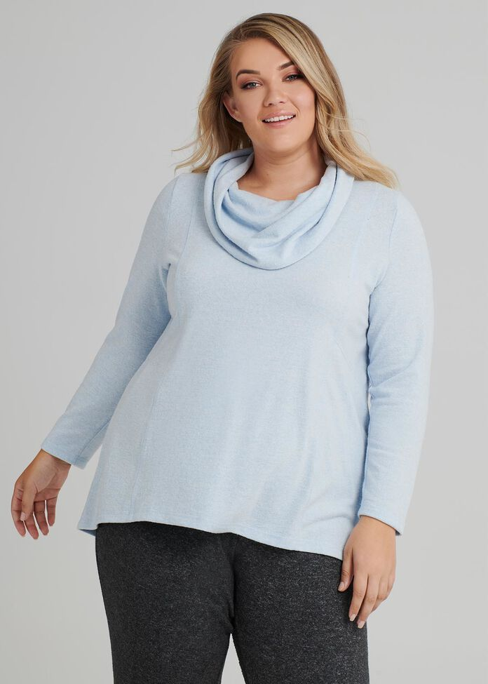 Cozy Cowl Top, , hi-res