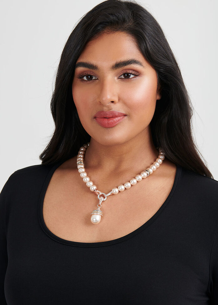 Ring Of Pearl Necklace, , hi-res