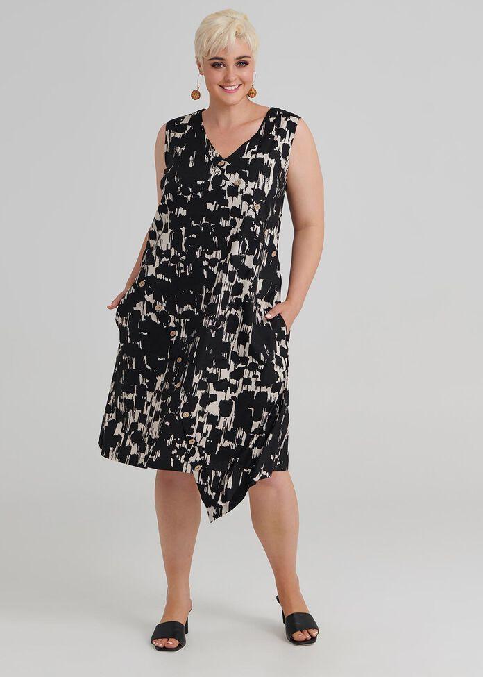 Mela Linen Dress, , hi-res