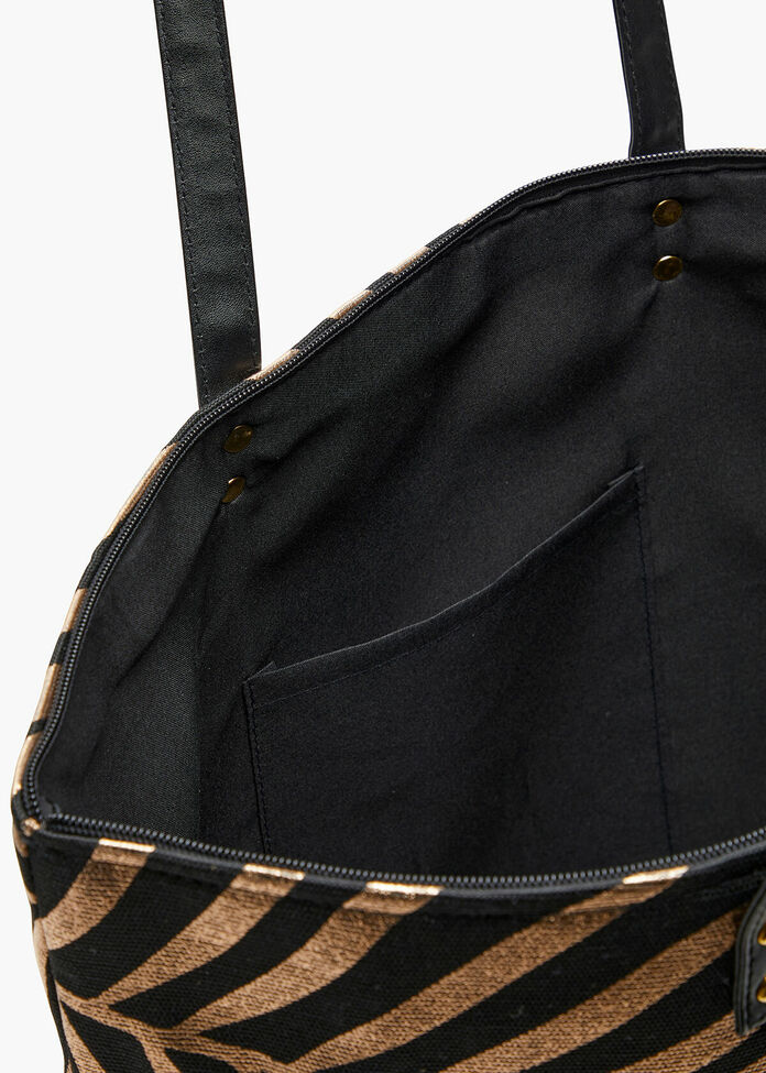 Foil Palm Tote Bag, , hi-res