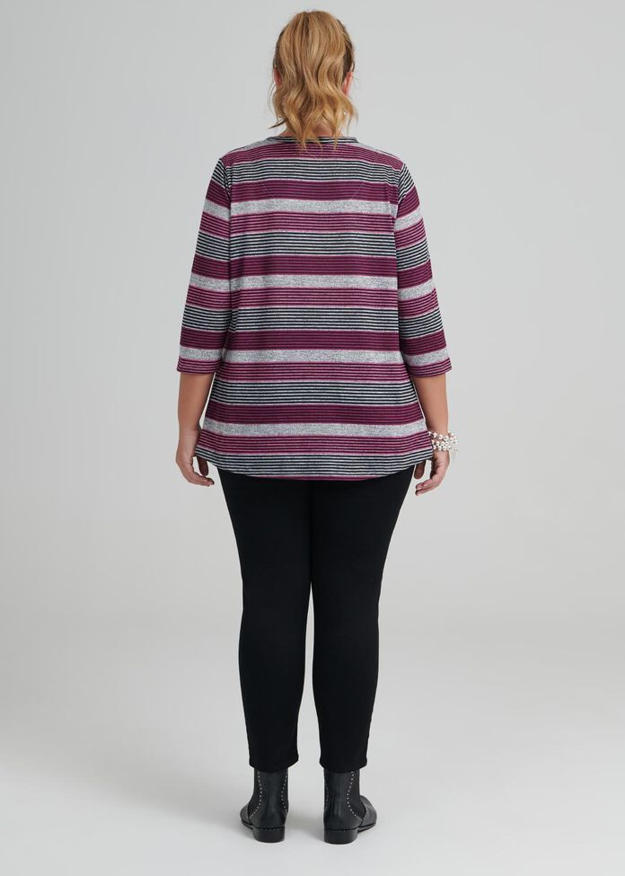 Twilight Stripe Top, , hi-res