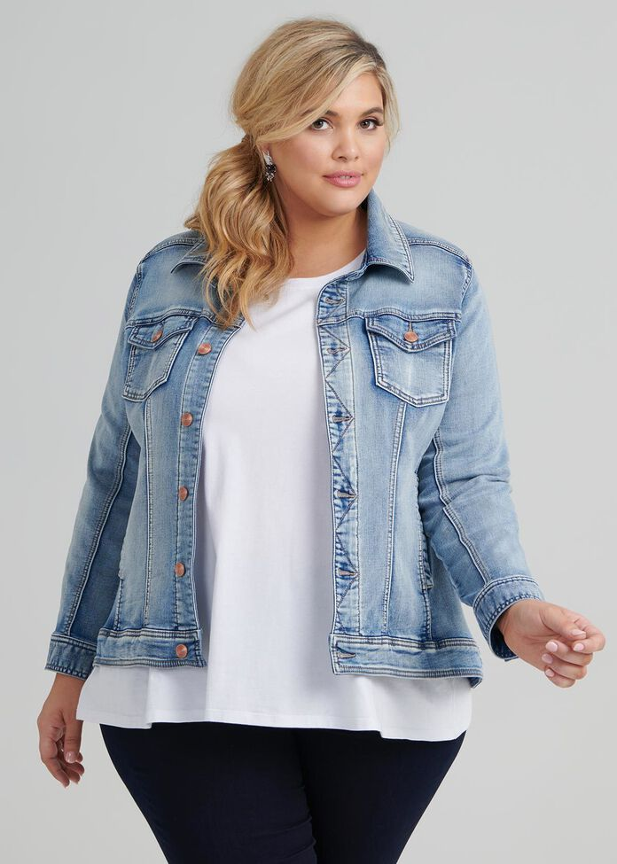 The Easy Fit Denim Jacket, , hi-res