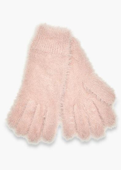 Blush Fuzzy Gloves