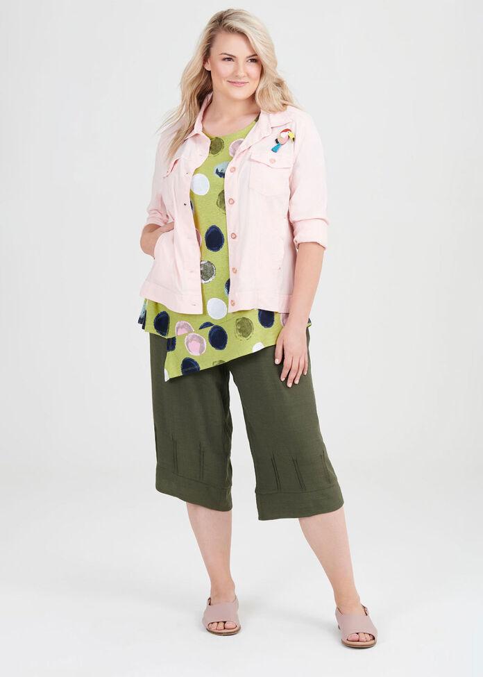 Linen Knit Circles Top, , hi-res
