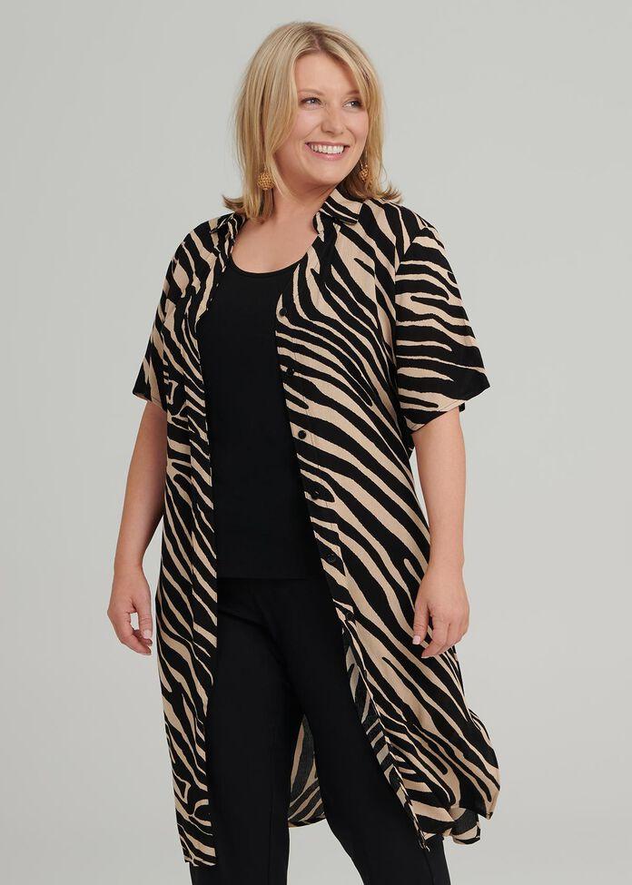 Petite Nicola Zebra Shirt, , hi-res