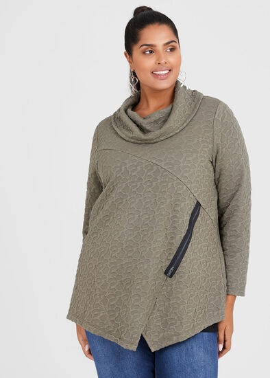 Textured Cowl Top