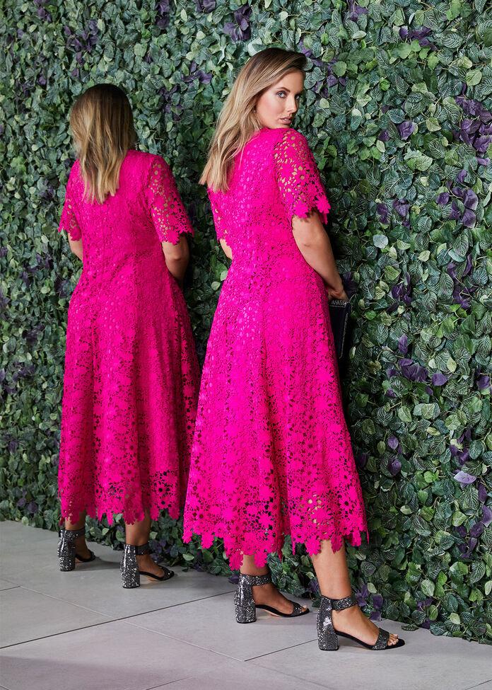 Guipure Lace Dress, , hi-res