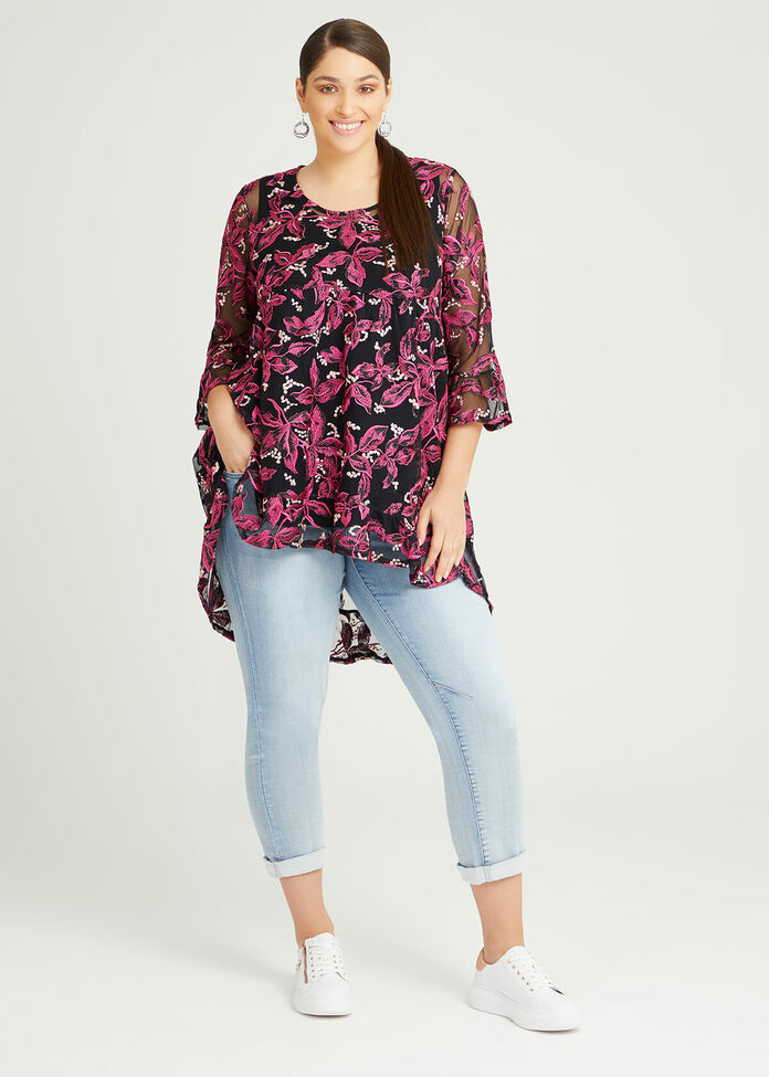Wild Rose Embroidered Tunic, , hi-res
