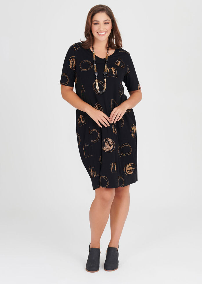 Natural Modern Luxe Dress, , hi-res