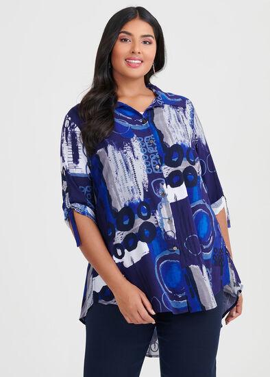 Viscose Indigo Vibes Shirt