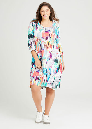 Spring Twist Natural Dress